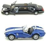Kinsmart Cars, Trains & Bikes Kinsmart Lincoln Limosuine and Shelby Cobra