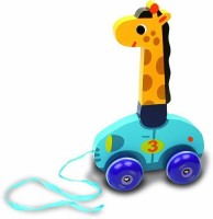 Vilac Melusine's Push And Pull Baby Toy, Leonie The Giraffe (Multicolor)