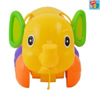 Mera Toy Shop Pull Along Elephant With Bricks (Multicolor)