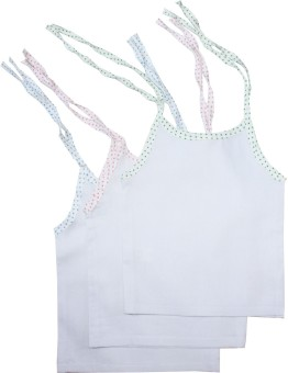 Cherish Maternity Woven Tie-Up Baby Girl's Vest Pack Of 5