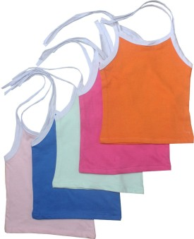 Cherish Maternity Knit Tie-Up Baby Girl's Vest Pack Of 5