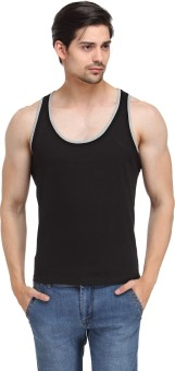 Happy Hippie Black Grey Vest Men Men's Vest