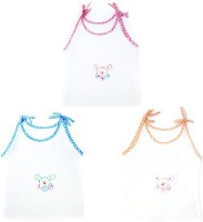 This N That Bubbly Teddy Jabla Set Of 3 Baby Girl's Vest (Pack Of 3)