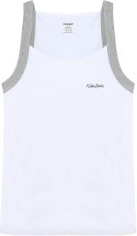 Killer White Solid Printed Men's Vest