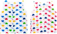 This N That Heart Printed Jabla Set Of 2 Baby Girl's Vest (Pack Of 2)