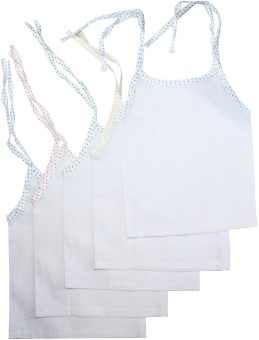 Cherish Maternity Woven Tie-Up Baby Girl's Vest Pack Of 3