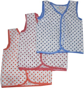 Bubbles Premium Quality New Born Front Open Vest -Jhabla-Tees Baby Girl's Vest Pack Of 3
