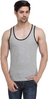 Happy Hippie Grey Black Vest Men Men's Vest