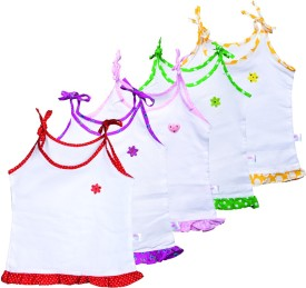 Knotty Kids Knot Jabla Baby Girl's Vest (Pack Of 5)