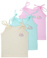 Bubbles Jhabla For New Born (0-4 Months) Baby Girl's Vest (Pack Of 3)