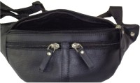 Style 98 Genuine Leather Travel Money Pouch For Men And Women Waist Bag Black