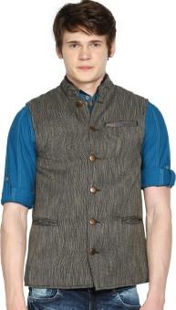 The Indian Garage Co. Solid Men's Waistcoat - WSCEBG77NYVWADMU