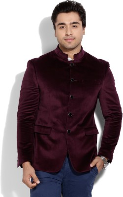 Blackberrys Blackberrys Solid Men's Waistcoat (Red)