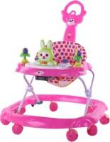 Magic Pitara Baby Walker With Push Handle (Pink) (Pink)
