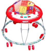 New Natraj Pamper Musical Baby Walker (Red)