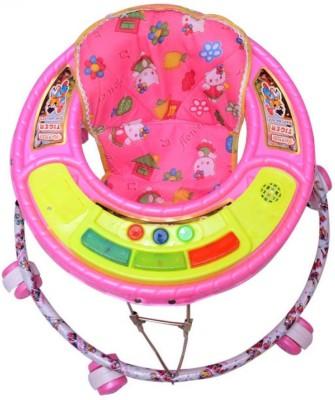Kusum Enterprises Pink Musical Tiger Baby Walker (Pink)