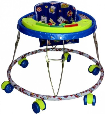 Kusum Enterprises Blue Musical Tiger Baby Walker (Blue)