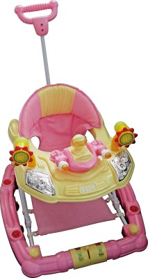 MeeMee Baby Walker Cum Rocker (Pink)