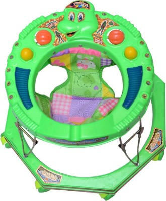 Kusum Enterprises Round Baby Walker (Green) (Green)