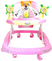 A Smile Toys & More Baby Walker With Music And Adjustable (High Finish Quality) (Pink)