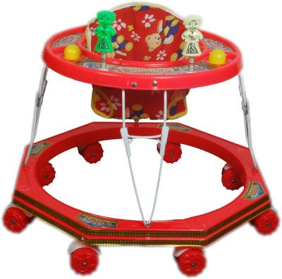 Kusum Enterprises Kusum Round Red Baby Walker (Red)