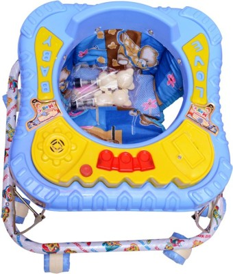 Kusum Enterprises Blue Musical Walker (Blue)