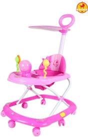 BAYBEE SunnyDay Walker with Canopy and Parent Control (Pink)