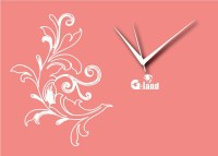 G-land Wooden Print 193DEZ Analog Wall Clock (Multicolor)