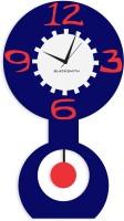 Blacksmith Big Pendulum Blue Analog Wall Clock Dark Blue