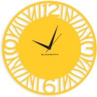 Blacksmith Yellow Stylish Circular Analog Wall Clock Traffic Yellow