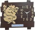 Feelings Ganesh Cafe Club Analog Wall Clock (Brown)