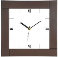 Sale Funda Analog Wall Clock Dark Brown, With Glass