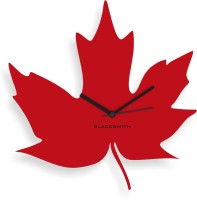 Blacksmith Red Maple Leaf Analog Wall Clock Red