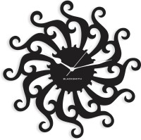 Blacksmith Black Modern Chakra Analog Wall Clock Black