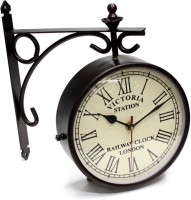 Artondoor 6 Inch Station Double Side Analog Wall Clock (Black)