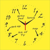 Go Hooked Funky Design Printed Analog Wall Clock Multicolor