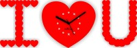 Zeeshaan Diamnate I Love You Red Analog Wall Clock Red