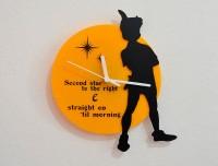 Blacksmith Peter Pan Fairytale Analog Wall Clock (Black, Yellow)