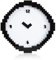 Its Our Studio Pixel Time Analog Wall Clock Multicolor