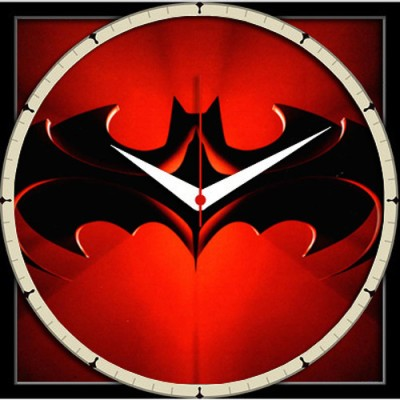 Shopmillions Batman And Robin Symbol Analog Wall Clock For Rs 299
