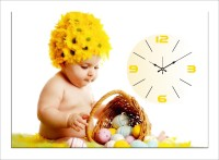 Design O Vista Single Panel - DV1-S-R4111 Analog Wall Clock (Multicolor)