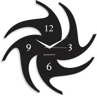 Blacksmith Thick Chakri Black Analog Wall Clock Black