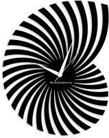 Blacksmith Black Cut Out Pattern Analog Wall Clock Black