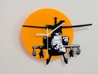 Blacksmith Apache Helicopter Analog Wall Clock (Black, Yellow)
