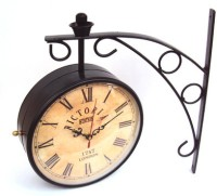Myesquire 8 Inch Victoria Vintage Station London Style Analog Wall Clock (Brown)