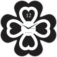 Blacksmith Flower Black Analog Wall Clock Black