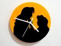 Blacksmith Beauty And The Beast Analog Wall Clock (Black, Yellow)
