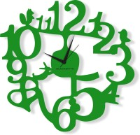 Blacksmith 1 To 12 Birds Parrot Green Analog Wall Clock Parrot Green