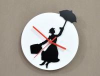 Blacksmith Mary Poppins Analog Wall Clock (White, Black)