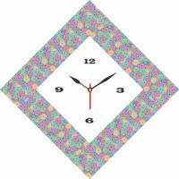 Go Hooked Designer Print Analog Wall Clock Multicolor